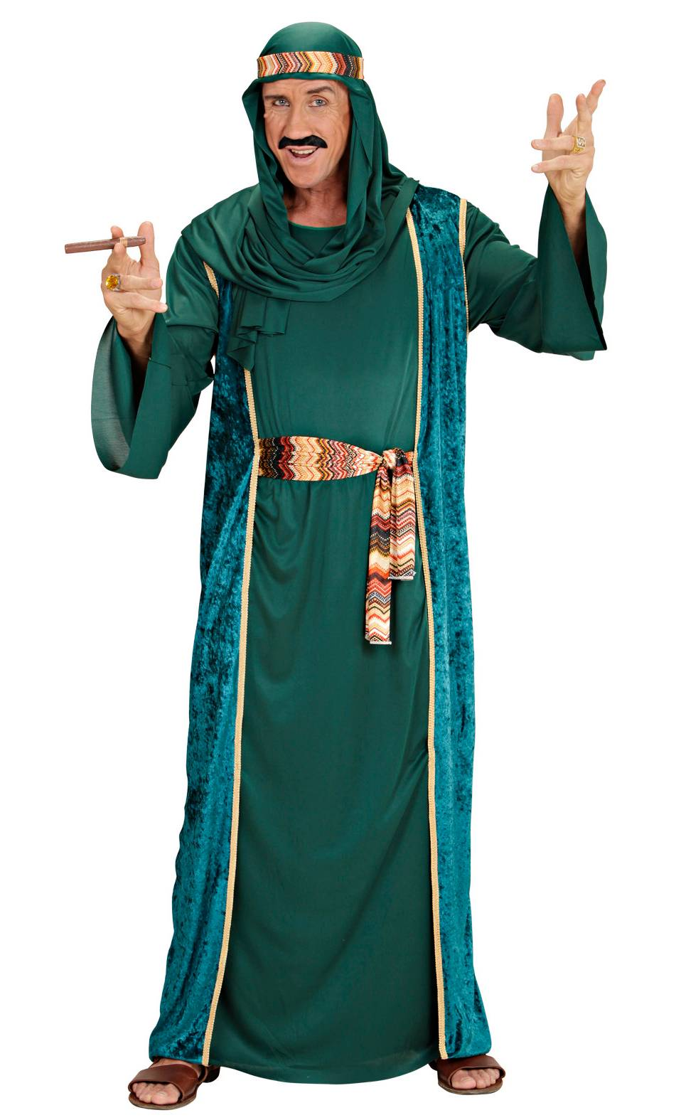 Costume sheik vert homme