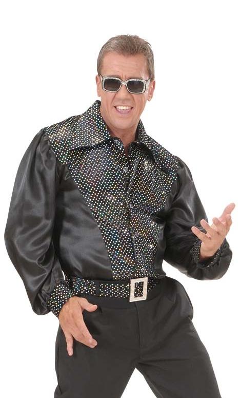 Chemise-Disco-Homme-noire