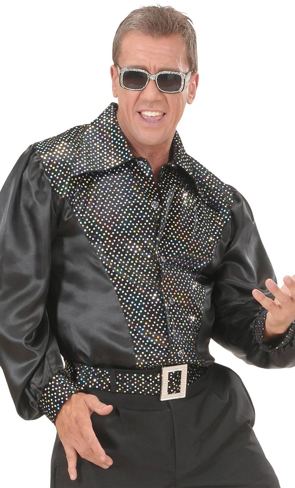 Chemise-Disco-noire-pour-homme-2