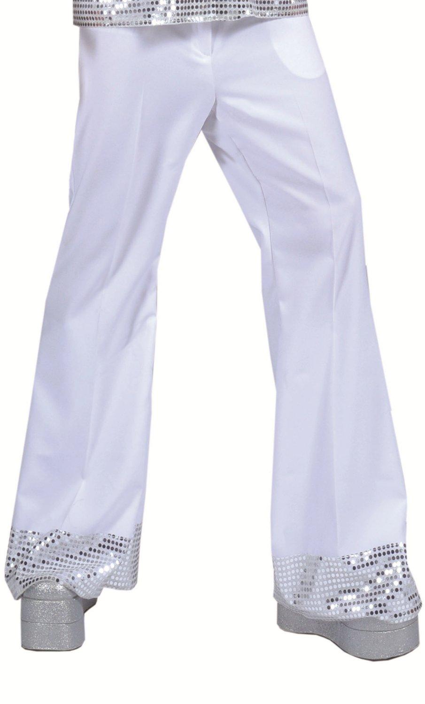 Pantalon-disco-Homme-blanc