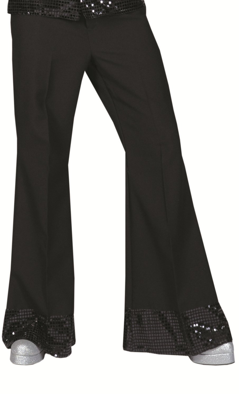 Pantalon-disco-homme-noir