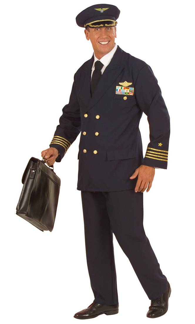 Costume-Pilote-Homme-XL-XXL
