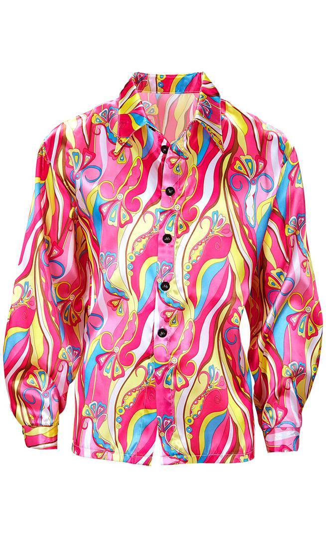 Chemise de hippie rose