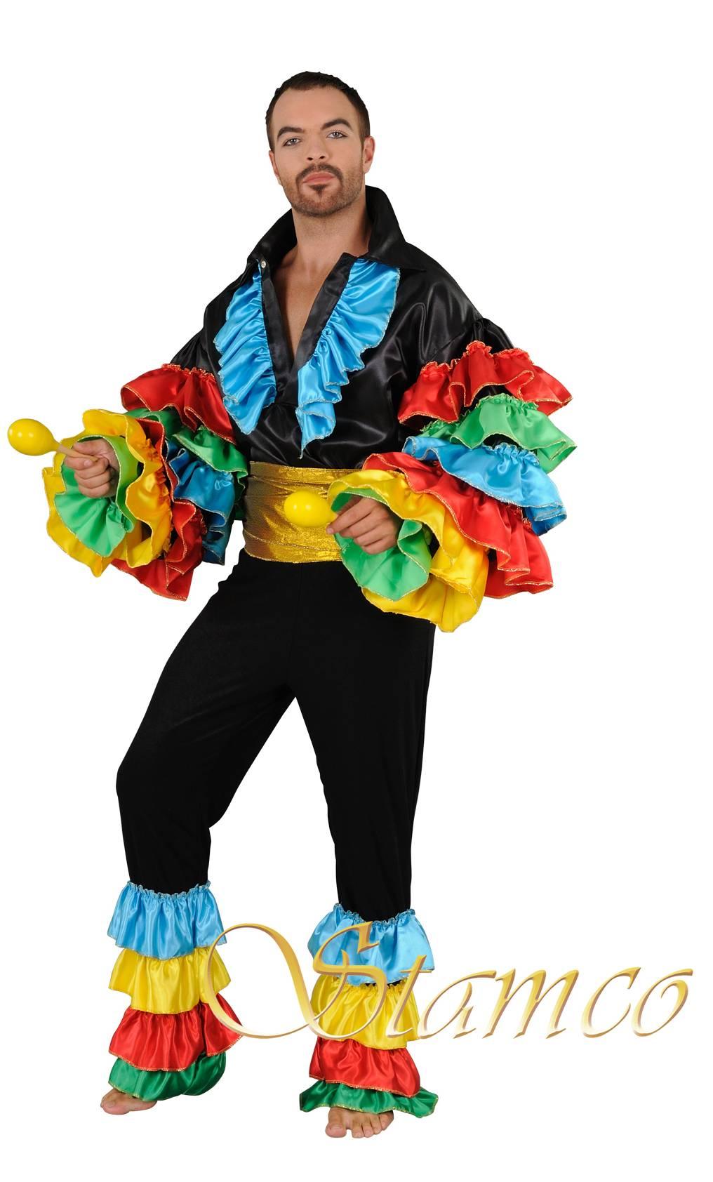 Costume Homme Carnaval De Rio Deguisement Chemise Rio