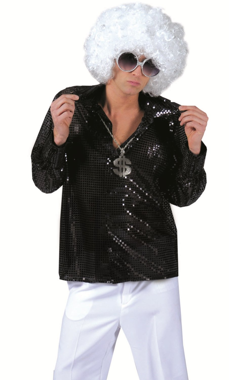 Chemise-Paillettes-noire