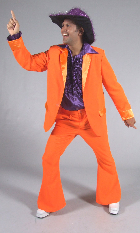 Costume-Disco-orange-pour-homme