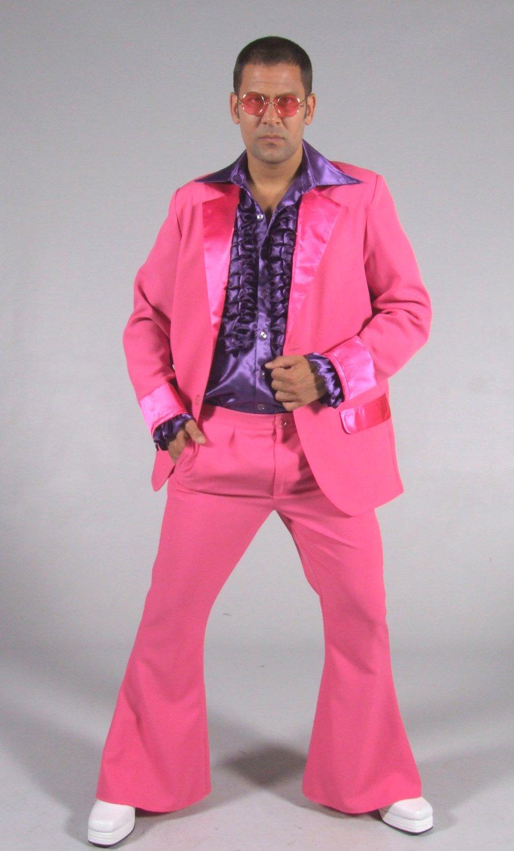 Déguisement-Disco-homme-rose
