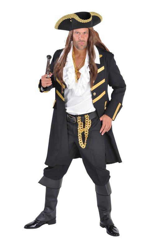 Veste de pirate noire