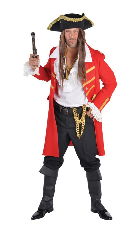 Veste de pirate rouge
