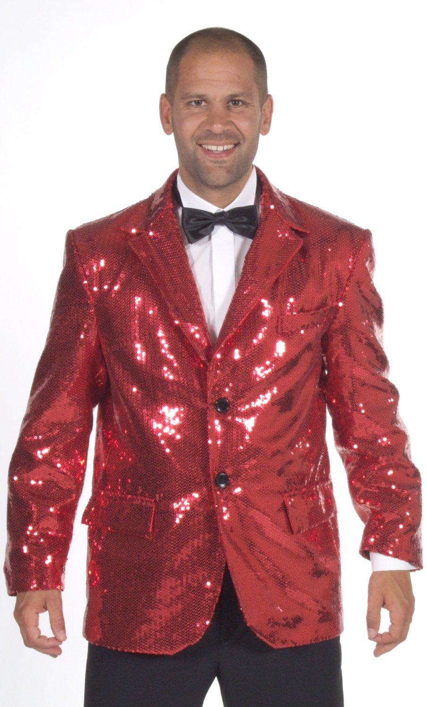 Veste-rouge-paillettes-homme