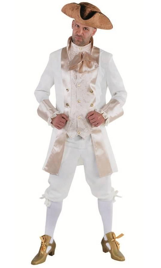 Costume-Marquis-Homme-crème-XL-XXL