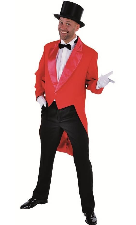 Veste queue de pie-frac rouge-grande taille