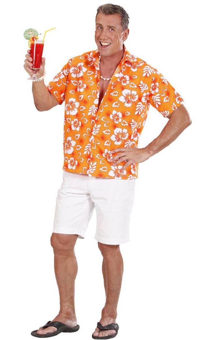 Chemise-Hawaï-orange