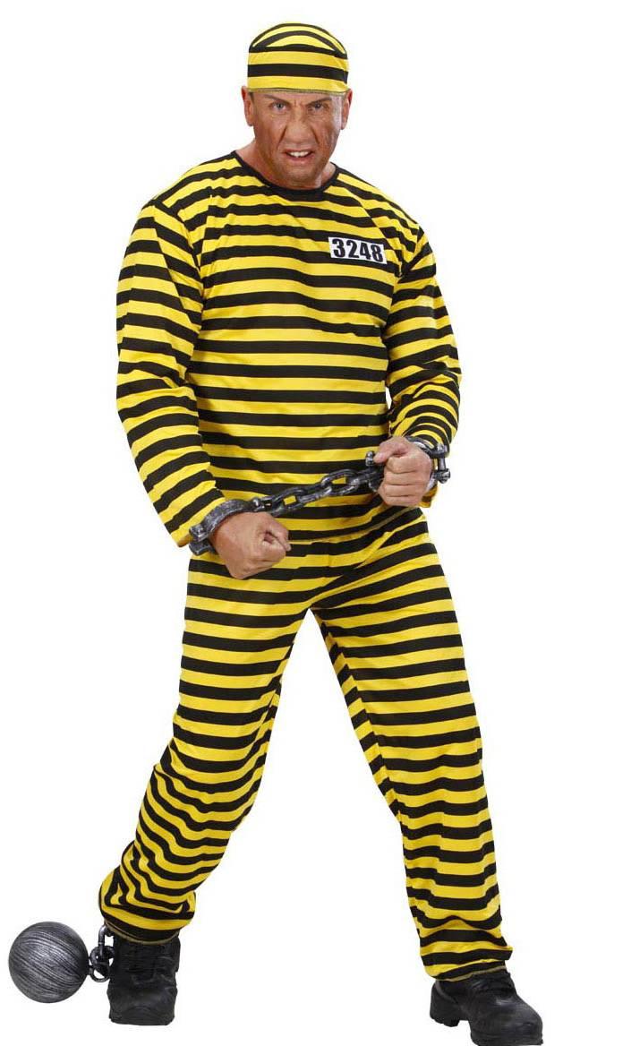 Costume-Bagnard-jaune-noir-pas-cher
