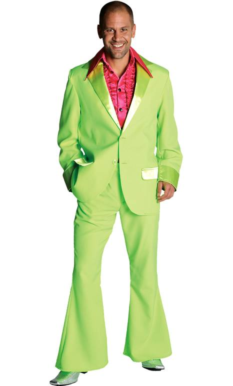 Costume-Disco-vert-fluo