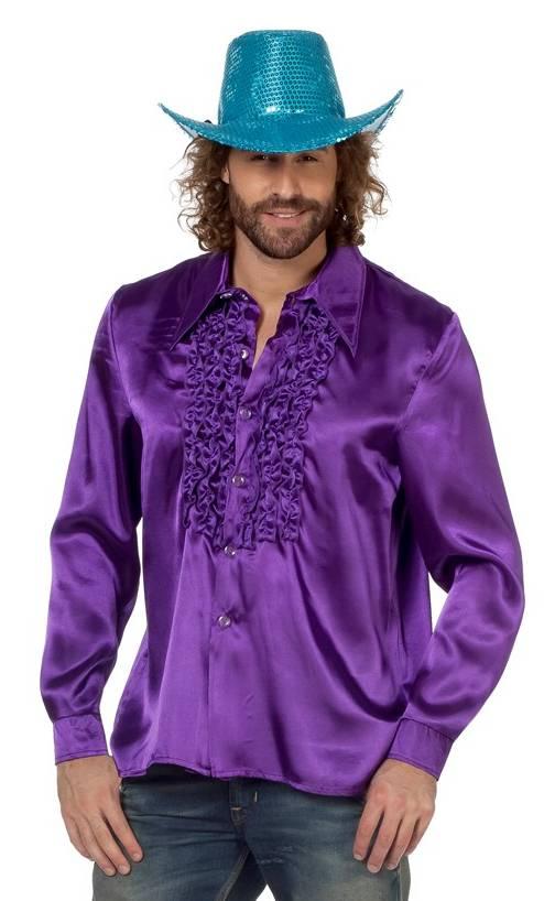 Chemise-Disco-violette-en-grande-taille-XL-XXL-XXXL