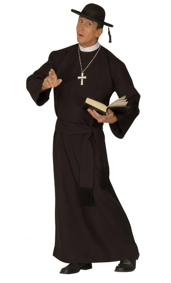 Costume de curé en grande taille