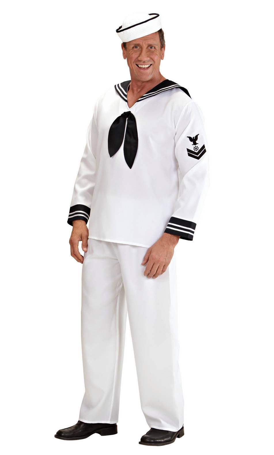 Costume de marin pour homme en grande taille