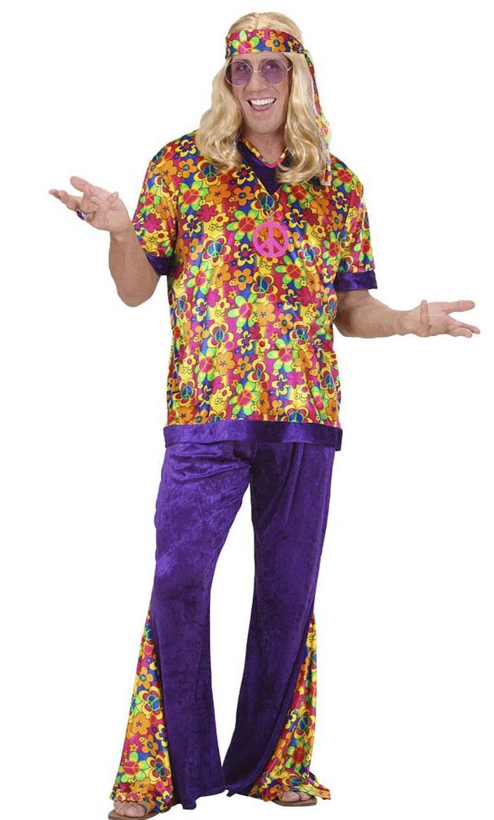Déguisement-de-hippie-homme-Grande-Taille-XL