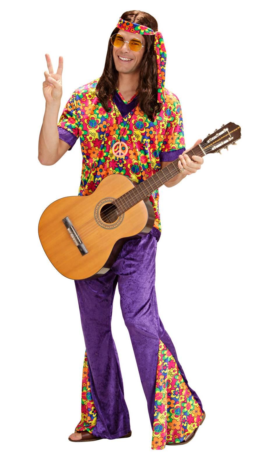 Costume-de-hippie-homme-Grande-Taille-XL-2