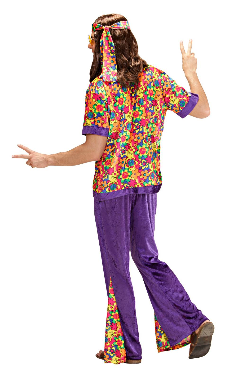 Costume-de-hippie-homme-Grande-Taille-XL-3
