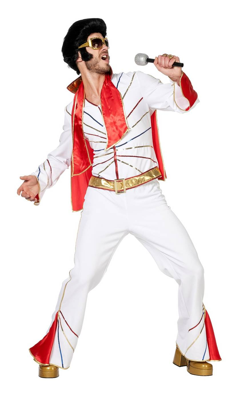 Costume-Elvis-King-blanc-homme-Grande-Taille-XL-XXL