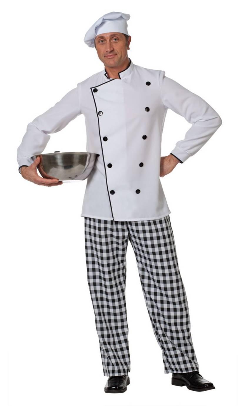 Costume de cuisinier pour homme v19840 for Cuisinier 49