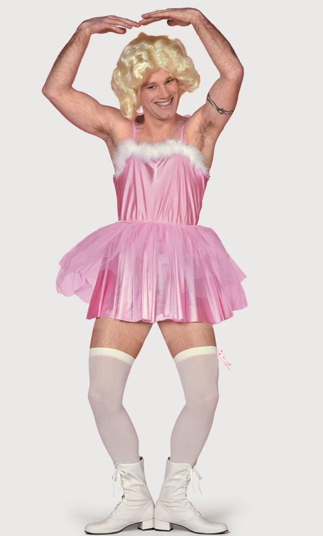 Déguisement-de-ballerine-rose-pour-homme-en-grande-taille