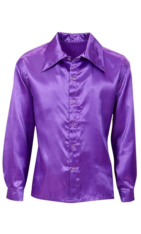 chemise satin violet v19859. Black Bedroom Furniture Sets. Home Design Ideas