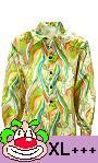Chemise-Hippie-70s-Vert-Grande-Taille-XL-XXL
