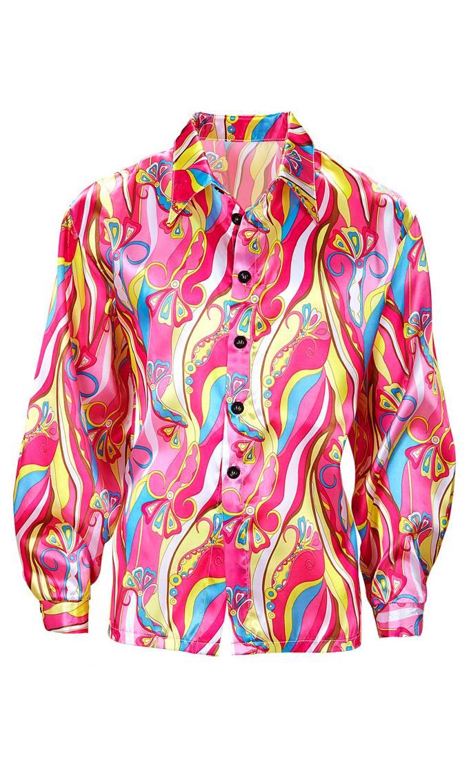 Chemise de hippie rose grande taille xl-xxl