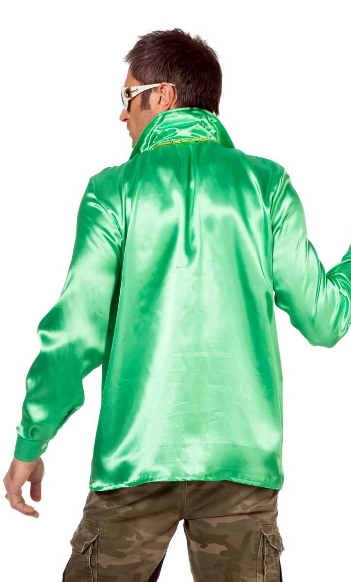 Chemise-Disco-verte-Grande-taille-2