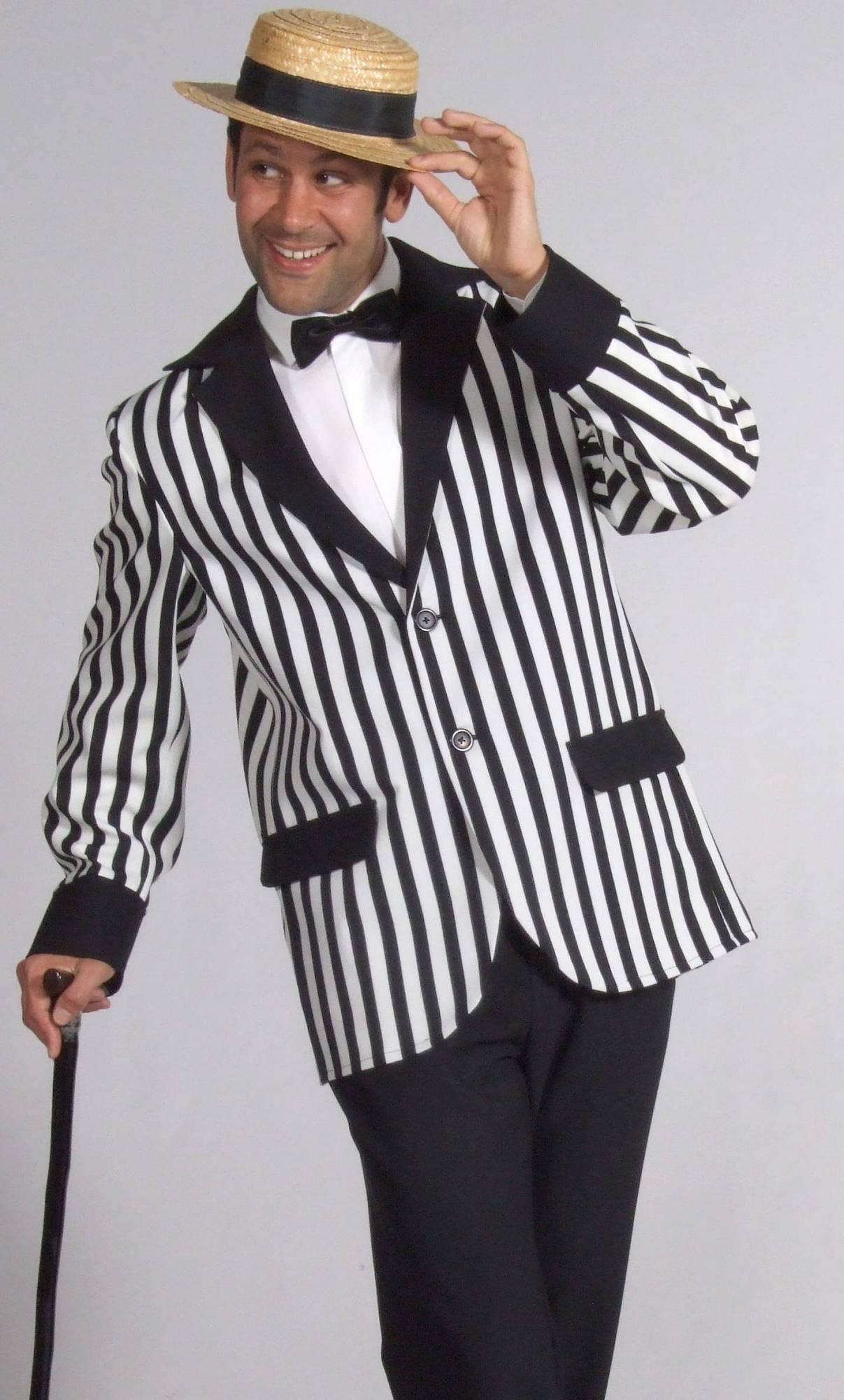 Veste-rayée-noir-et-blanc-grande-taille