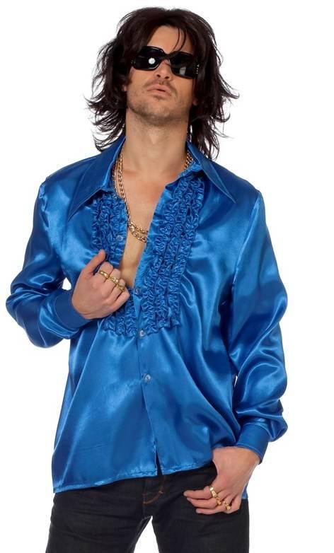 Chemise-Disco-luxe-bleue