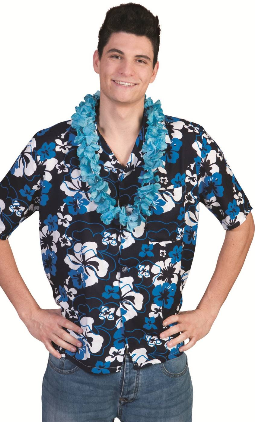 Chemise-Hawaïenne-Homme-bleue