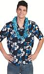 Chemise-Hawa�enne-Homme-bleue