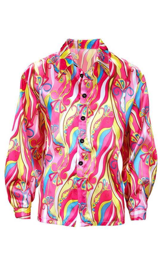 Chemise-de-hippie-rose-grande-taille-xl---xxl
