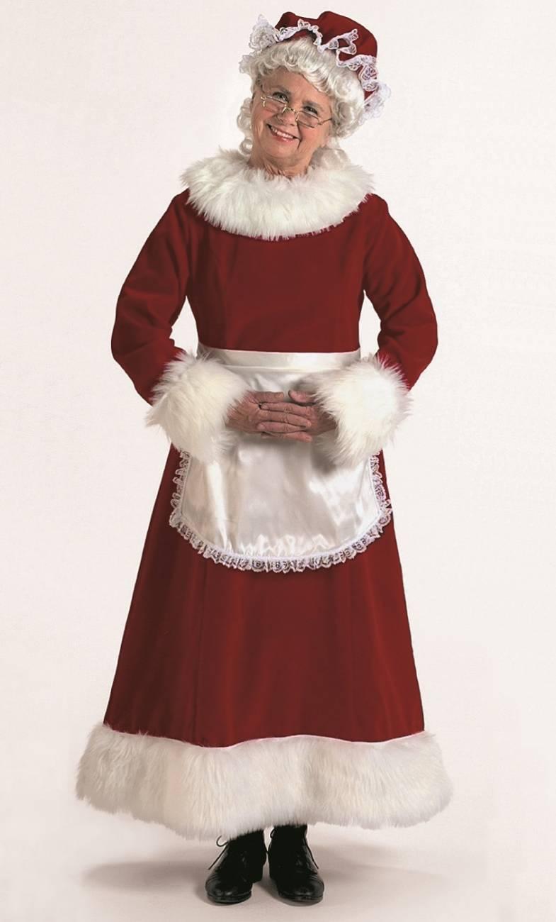 Weihnachtsfrau-Kostüm-Hochwertig