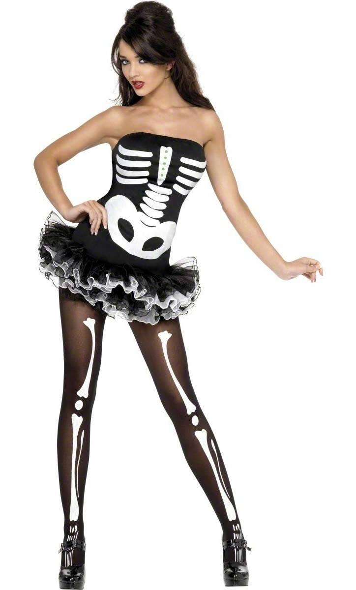 costume squelette femme v28083. Black Bedroom Furniture Sets. Home Design Ideas