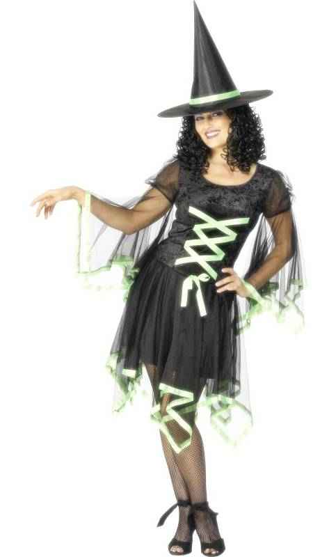 Costume-Sorcière-noire-et-verte-Femme