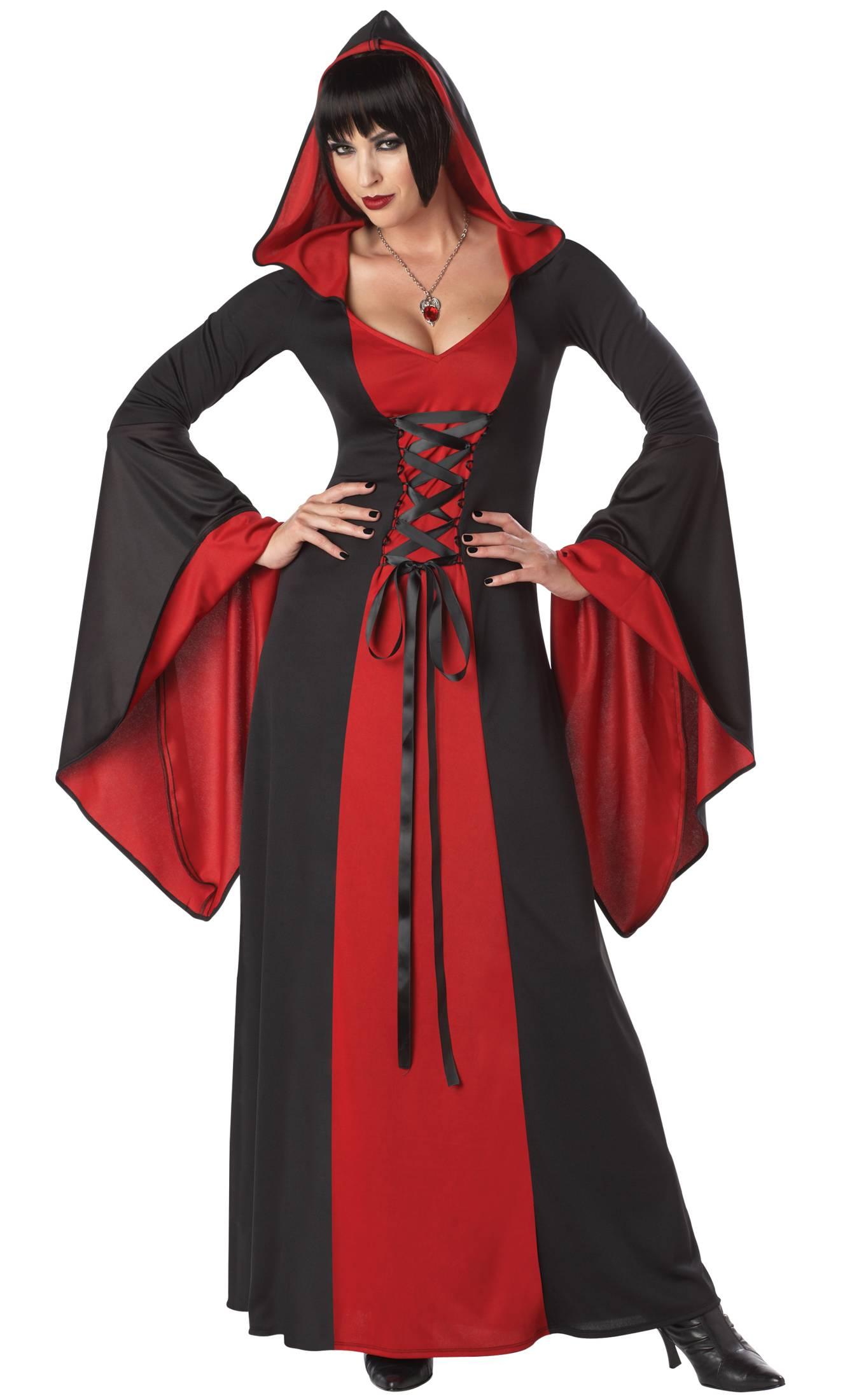 Costume-Sorcière-Maudite-Rouge