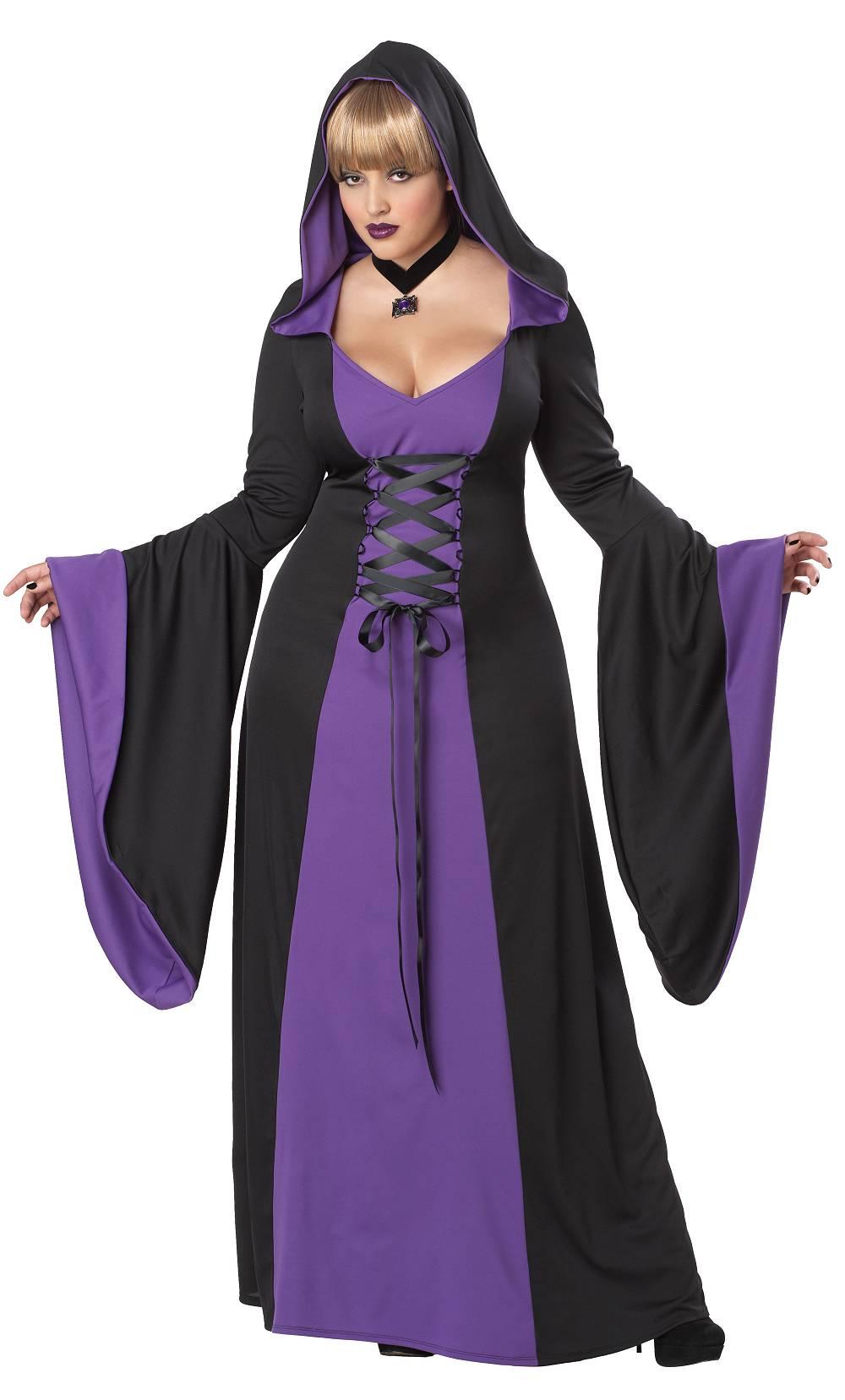 Costume-de-sorcière-en-grande-taille