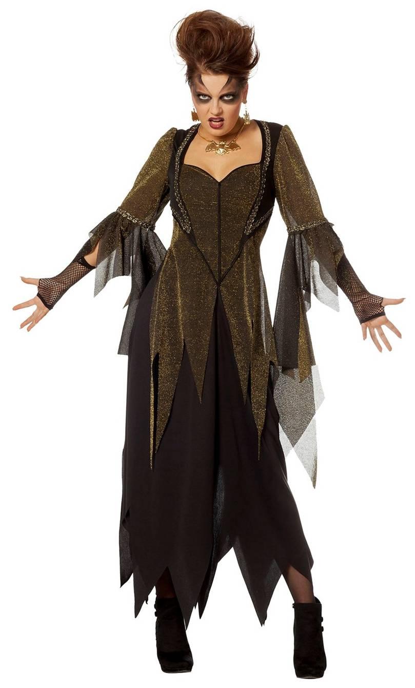 Costume-Sorcière-Maléfique-Or-Grande-taille