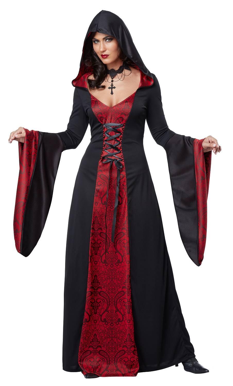 Costume-de-sorcière-Maudite-Rouge