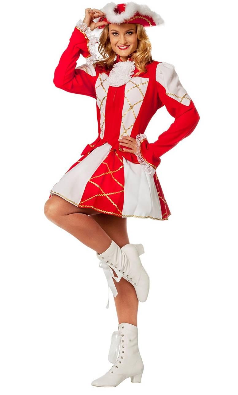 Costume-Majorette-Femme-rouge