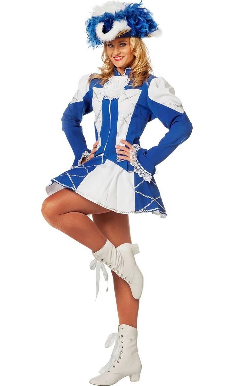 Costume-Majorette-Femme-bleue