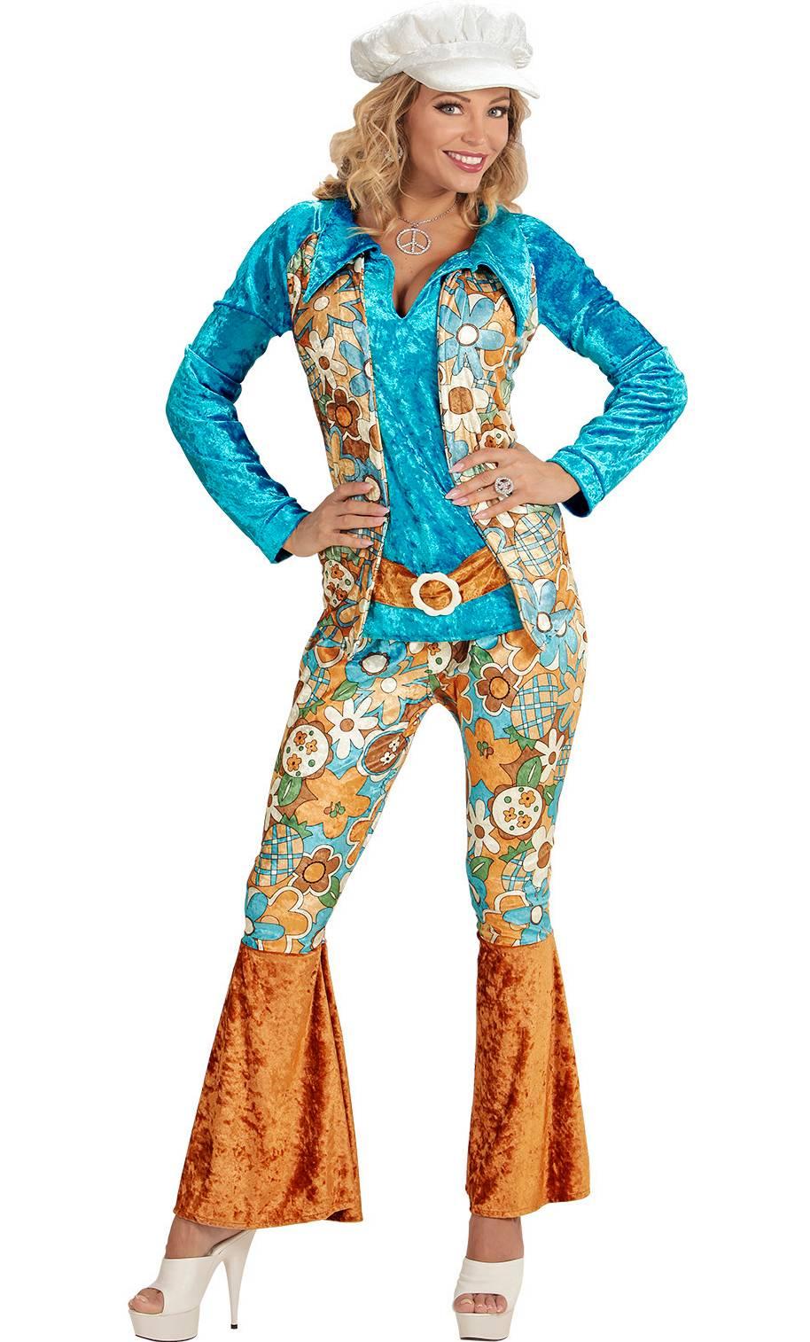 Costume-Hippie-Femme-Grande-taille-XL-XXL