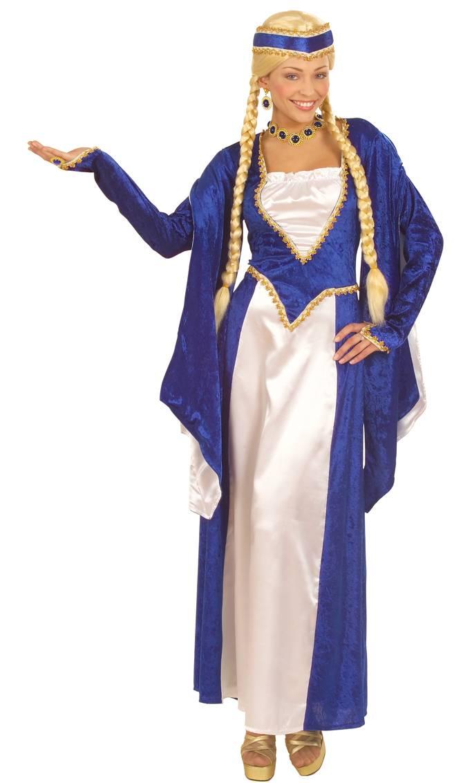 Robe-renaissance-bleue