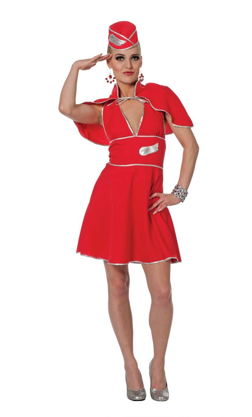 Costume-hôtesse-rouge