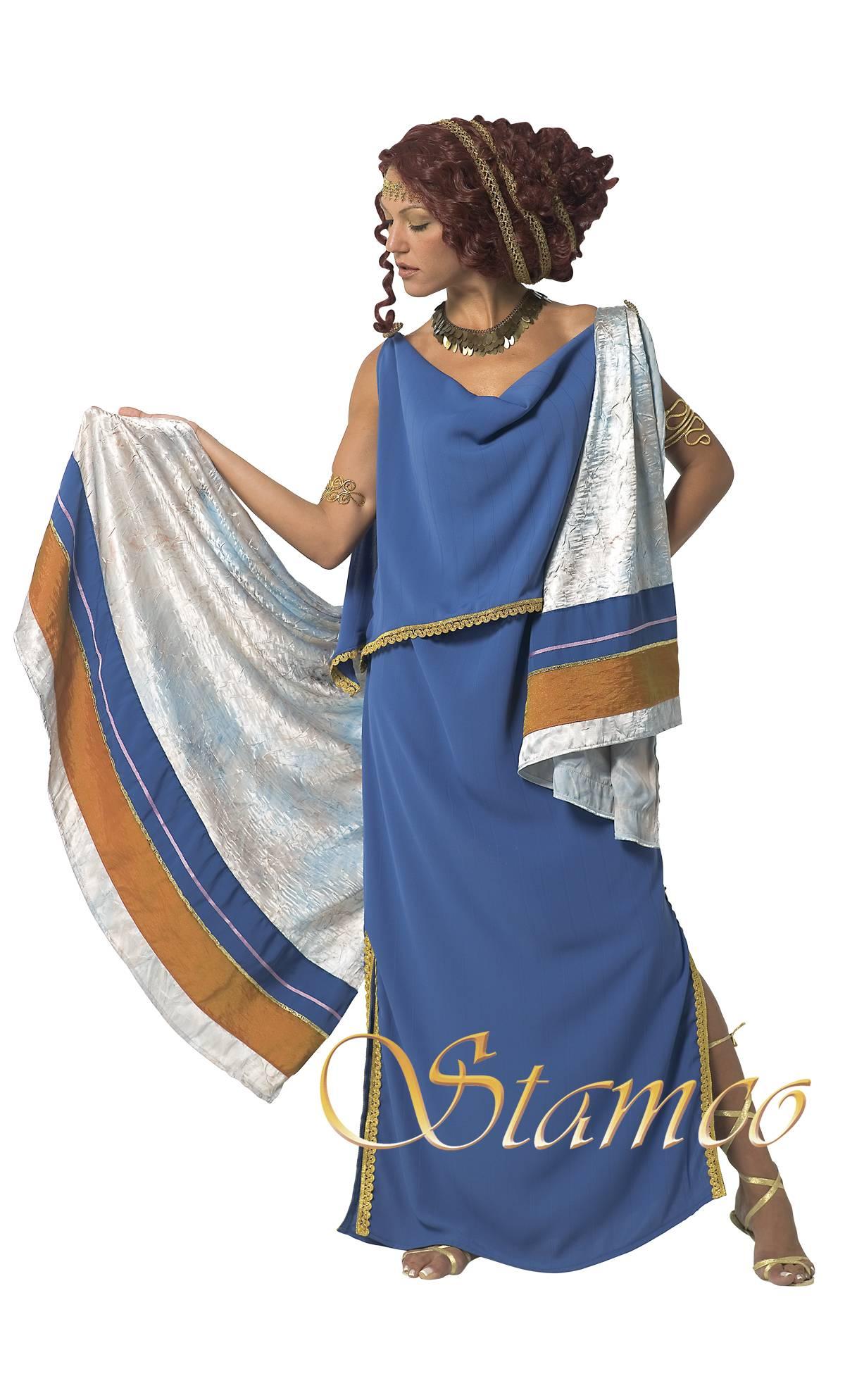costume romaine bleue v29327. Black Bedroom Furniture Sets. Home Design Ideas